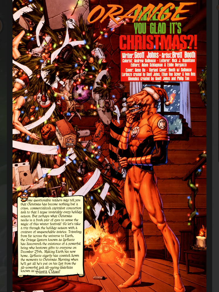 Review Larfleeze Christmas Special 187 Mylatestdistraction
