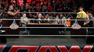 A lot of big names gathered in Philadelphia last Monday night as Hall of Famers Mick Foley, Booker T, Dusty Rhodes, Bret Hart and Jerry Lawler asker the Rock and John Cena about what we can expect from their WrestleMania 29 rematch.